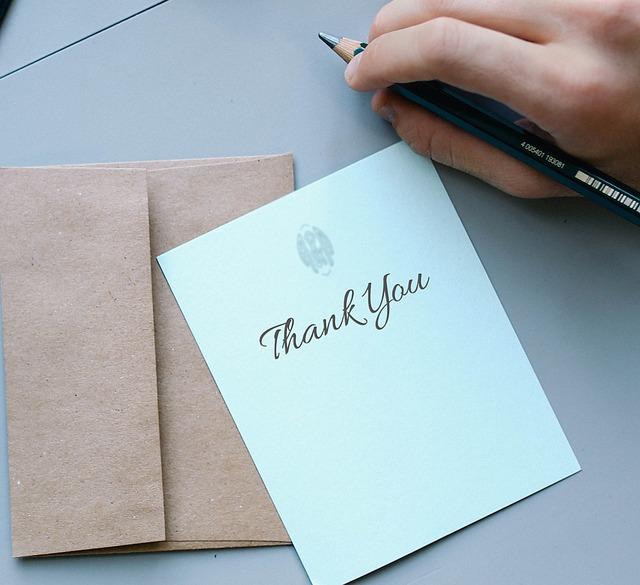 手紙 の メルカリ お礼